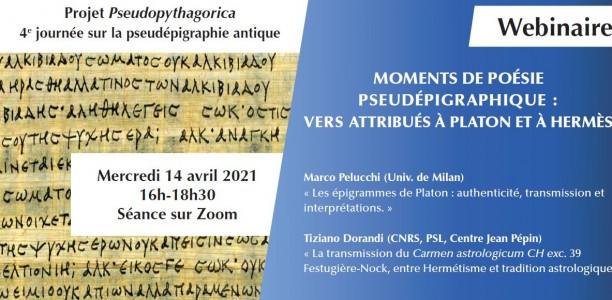 14 avril : Projet «Pseudopythagorica» – Journée d'étude – la pseudépigraphie antique