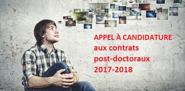 Appel clos _ candidature pour les contrats post-doctoraux 2017-2018