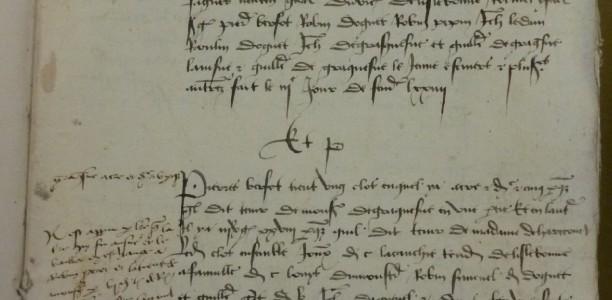 22 mars – Séminaire « Administrer par l'écrit au Moyen Âge et à l'époque moderne : Inventions et réinventions d'archives (XIIIe-XVIIIe siècle) »